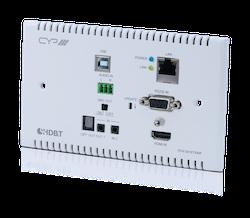 HDBaseT 2.0 WP Sändare, 4K, HDCP 2.2, PoH, USB