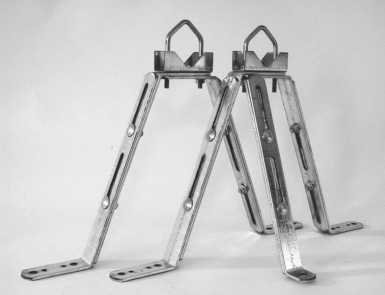 Macab Väggfäste VF-2550P set, 25–45cm från vägg, för rör 30-50mm