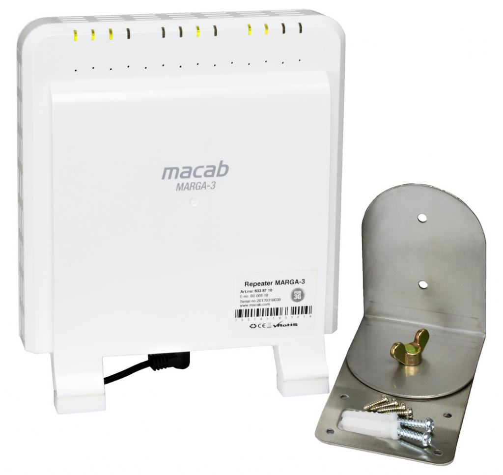 Macab 3G repeater med inbyggda antenner på båda sidor