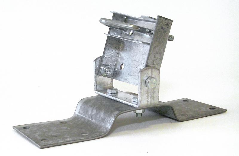 Macab Mastfot för tak/golv/balkong 0-45° 38-50mm rör