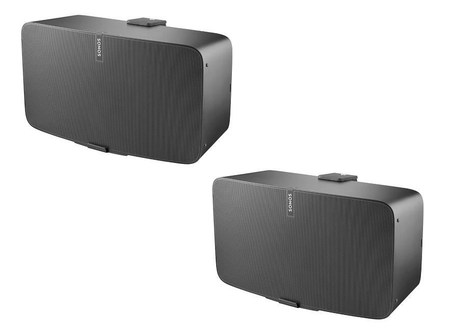 Cavus Väggfäste för Sonos Play:5 MKII Svart Horisontell 2 Pack