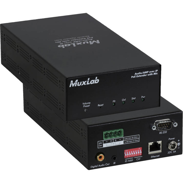 Muxlab Audio / AMP över IP, 50W/kanal, Mottagare