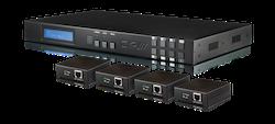 4x4 HDBaseT Lite Matris med PoE + 2 separata HDMI ut