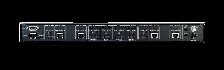 CYP/// 4x4 HDBaseT Lite Matris med PoE + 2 separata HDMI ut