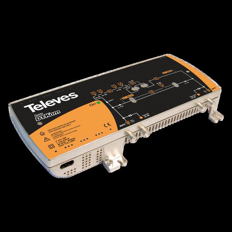 Televés DTKom bredbandssförstärkare 30-40 dB 1in 1 ut. Comhem