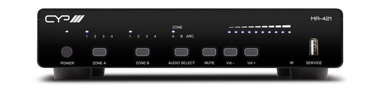CYP/// Multiroom-system 4 HDMI in, 1 HDMI ut, 2 HDbaseT ut