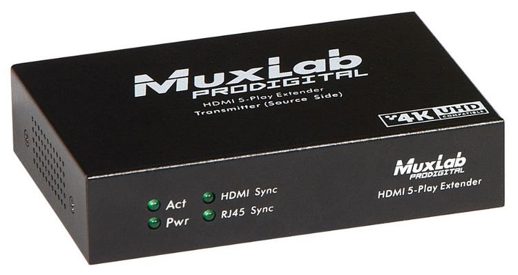 HDMI sändare, 4Play, Ethernet, RS232, 100m