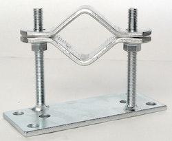 Rörklammers för 50-75mm rör, 75mm från vägg vinklad vänster