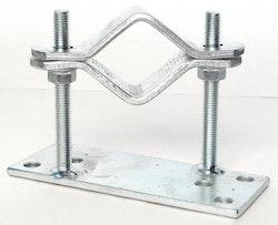 Rörklammers för 50-75mm rör, 75mm från vägg vinklad höger