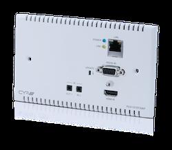 Full HDBaseT sändare för väggmontering, 4K, HDCP2.2, PoH, IR, LAN
