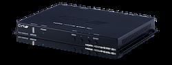 Full HDBaseT mottagare, Slimline, 4K, HDCP2.2, PoH, IR, LAN, OAR, Audio De-Embedding