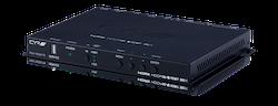HDMI/VGA sändare med scaler, 4K, LAN, PoH