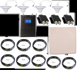 3G repeaterpaket med fyra inomhusantenner