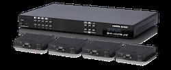 4x4 HDMI till HDBaseT Matris, HDCP 2.2, 4K, PoH, Audio De-embed, 60m