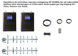 Paket Telia, Telenor och Tele2,  +15dBm uppdatering till 900MHz