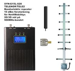 Paket för Telenor/Tele2, +15dBm med mini-inomhusantenn uppdatering till 900Mhz
