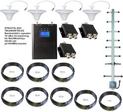 Paket för Tele2/Telenor +15dBm med fyra inomhusantenner 900Mhz