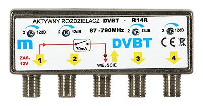 Mastförstärkare/Splitter UHF / VHF 4 utgångar