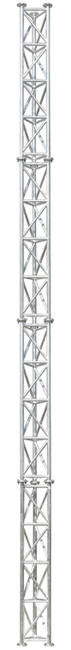 Fackverksmast Aluminium 6m komplett med fällbar fot