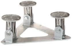 Fällbar fot för fackverksmast aluminium