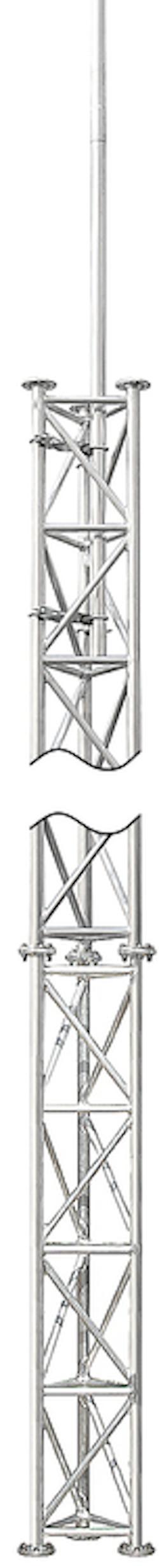 Fackverksmast / rör aluminium 5,5 m komplett med fällbar fot