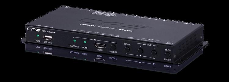 HDMI mottagare med Ljud förstärkare, 4K, LAN, PoH