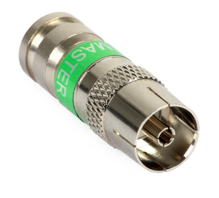 Compression-kontakt IEC hona RG6 10-pack