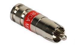 Compression-kontakt RCA Hane RG59 10-pack
