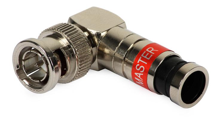 Compression-kontakt BNC Hane RG59 vinklad 10-pack