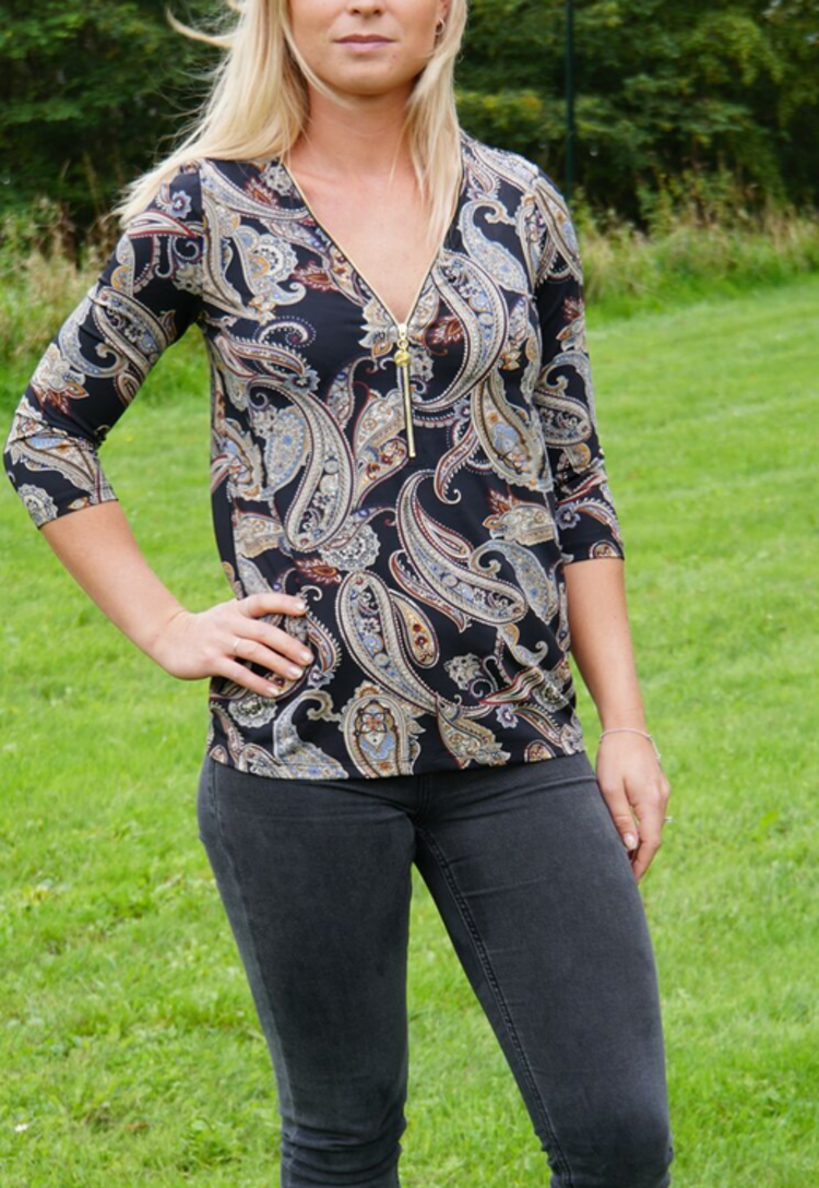 MARION TOP PAISLEY