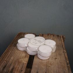Värmeljus plastkopp 12-pack