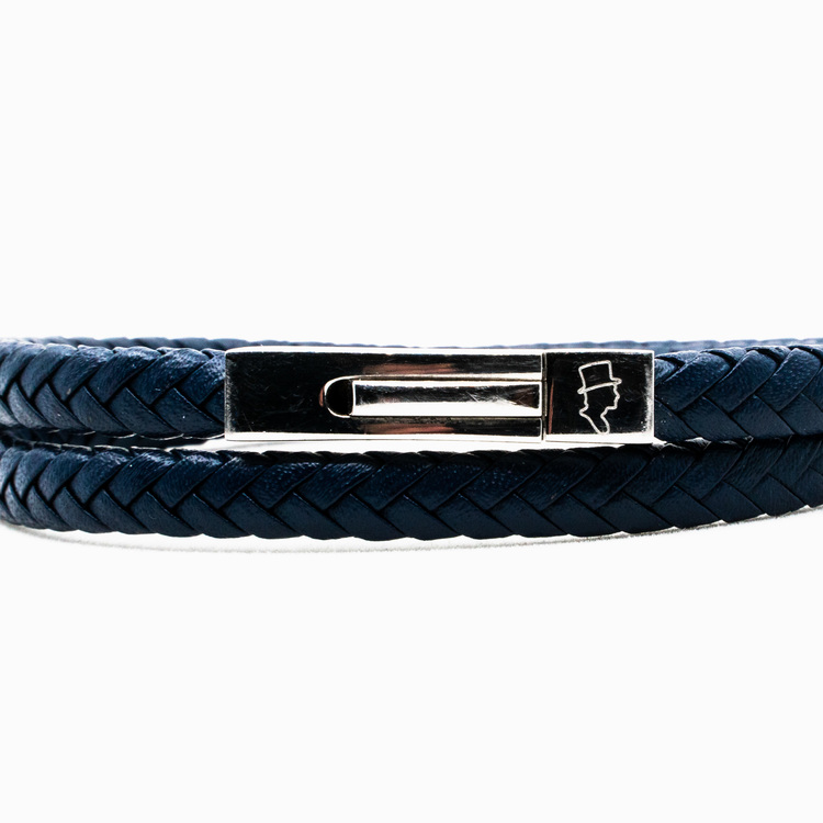 Blue Double Leather