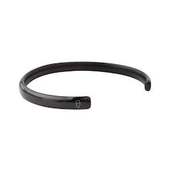 Steel Black Ribbed Cuff 6,5mm