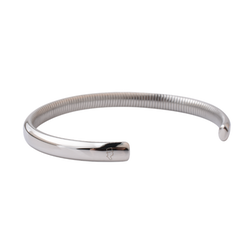 Steel Silver Ribbed Cuff 6,5mm