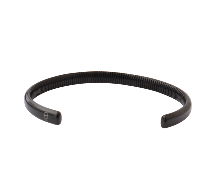 Steel Black Ribbed Cuff 6,5mm
