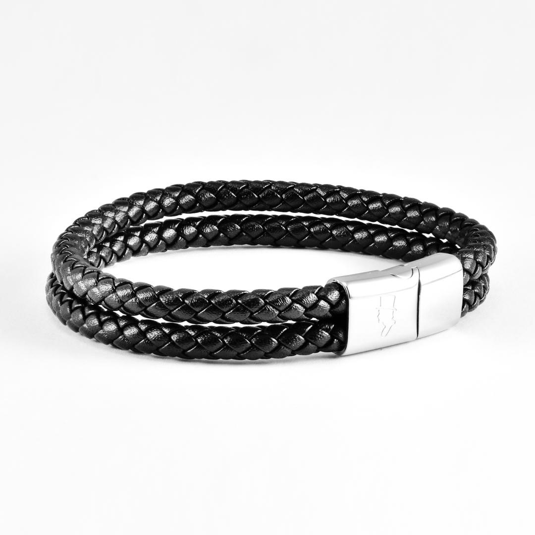 Black Double Rope Leather