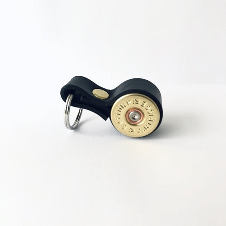 Nyckelring Kaliber 12 - Svart läder