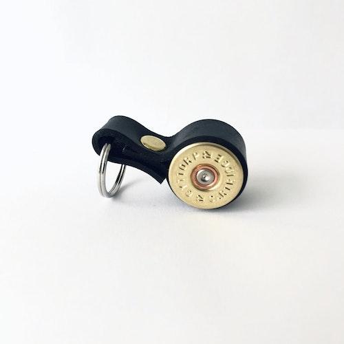 Nyckelring Hagel Kaliber 12 - Svart läder