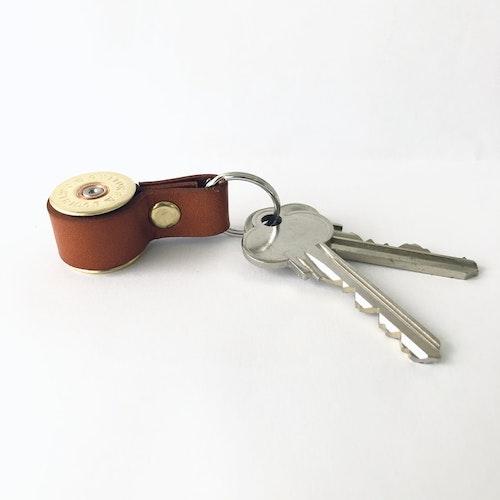 Nyckelring Hagel Kaliber 12 - Brunt läder