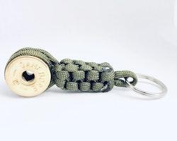 Nyckelring Lockvissla Kaliber 12 - Grön paracord