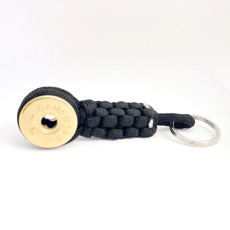 Nyckelring Lockvissla Kaliber 12 - Svart paracord