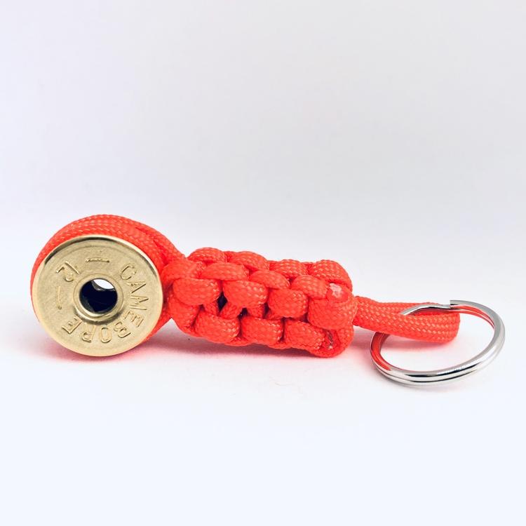 Nyckelring Lockvissla Kaliber 12 - Orange paracord