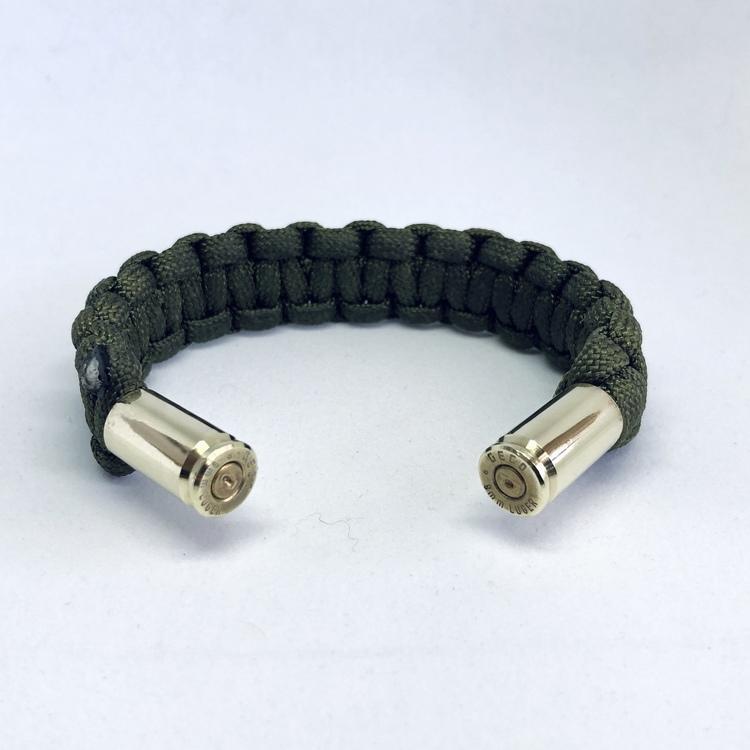 Handgjorda Paracord Armband - Grön