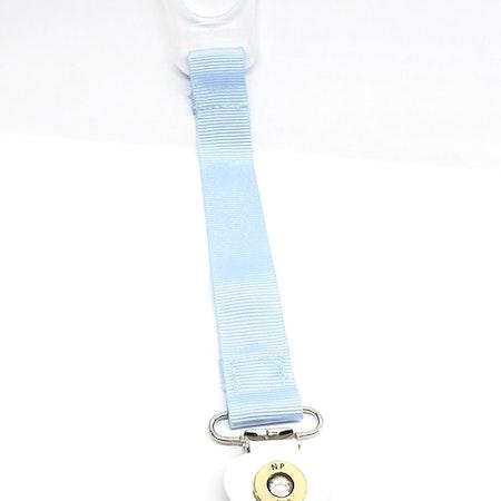 Napphållare med ljusblått band