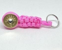 Nyckelring Lockvissla Kaliber 12 - Rosa paracord