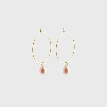 Pearl creole earrings gold