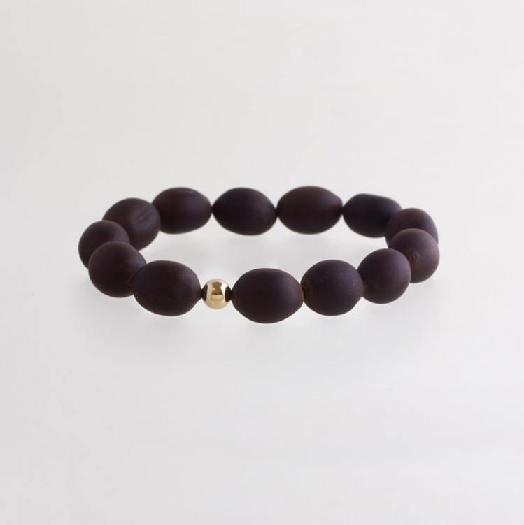 Lotus seed bracelet gold