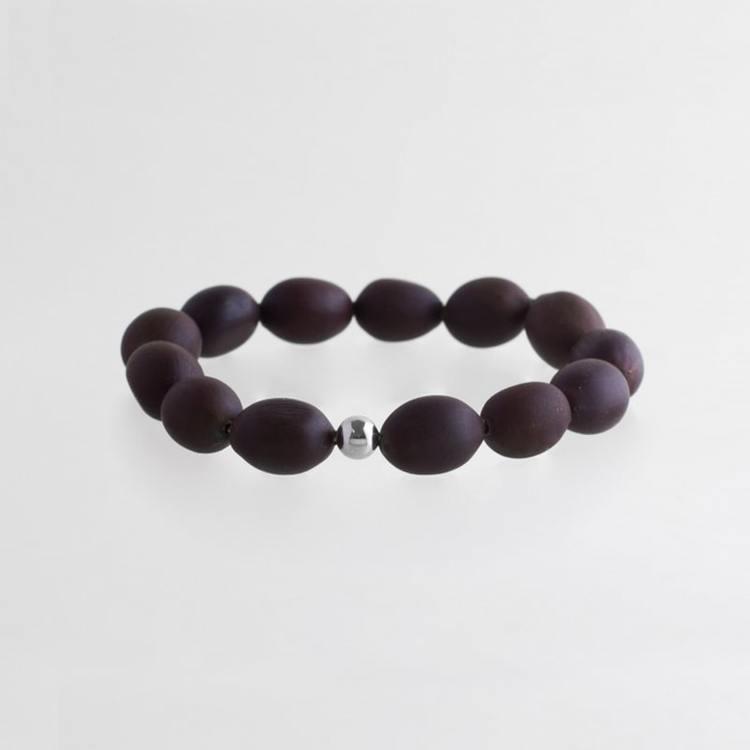 Lotus seed bracelet silver