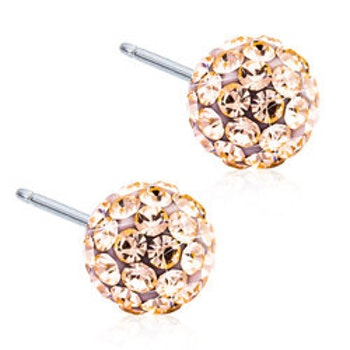 Crystal Ball Golden Rose 8mm