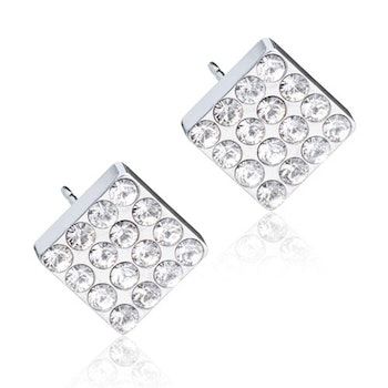 Brilliance Square Crystal Silver